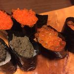 新中野まとい寿司 - 蟹味噌以外は娘用