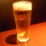 六本木 夜景魚市場 うお天 - 生ビール