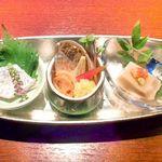 六本木 夜景魚市場 うお天 - 前菜(来店時おすすめの限定品)