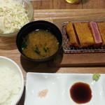 しゃぶり庵 - ビフカツ定食1,100円
