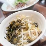 めんちゃんラーメン - もやし高菜