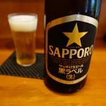 手打ちそばよし田 - 麦酒のグラスは超薄ガラス ビール好きには堪らない薄さ