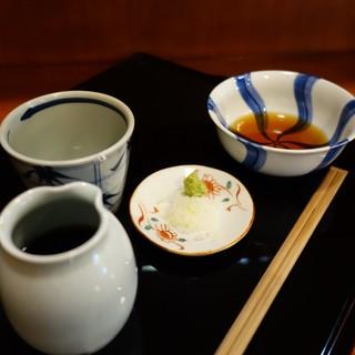 手打ちそばよし田 - 料理写真:蕎麦と天麩羅のつけ汁セット