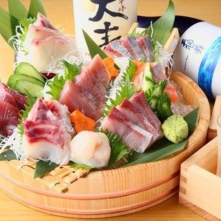 独自の仕入れルートによる朝採れ鮮魚★☆