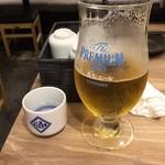 日本酒原価酒蔵 - 日本酒のチェイサーがビール!?すでにマズイ感じ^^;