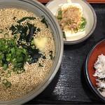 じゃがいも亭 - 讃岐うどん&かやく飯(ネギごまうどん) ¥700