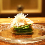 ごだん 宮ざわ - 料理写真:☆煮帆立、ジャンボインゲン、賀茂茄子