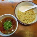 麺屋 高橋 - 辛つけめん(小1玉、750円)
