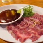 焼肉牛浪漫 - 未経産牛ハラミ刺身