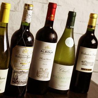 豊富なワインやカクテルで、寛いだ時間を。