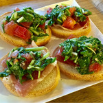 キリンガーデン - 京野菜と生ハムのブルスケッタ