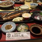 地魚料理 まるさん屋 - 焼き鯖。ボリューム満点。1800