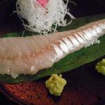 粥茶屋 写楽 - マゴチ刺身