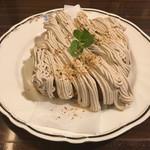 珈琲店 スパニョラ - モンブラントースト 520円