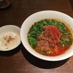 ダイキ麺 - パクチー入り冷やし台湾ラーメン(ミニ飯付)800円