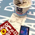 マクドナルド - 「マックフルーリー オレオクッキー」(230円)。Rポイントにて購入。2ポイント付いた。BGMはマイケルジャクソンの『ビリージーン』。懐かしすぎ?