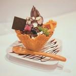レオニダス - 料理写真:1日限定20食。チョコレートパフェ 小野原店限定