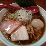 69864243 - 生醤油ラーメン(大盛)+味玉