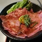 焼肉 ふくざき - 牛めし丼:牛めし丼セット(ランチパスポート利用)
