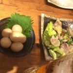 """肉汁餃子製作所ダンダダン酒場 - """"ウズラの卵の燻製"""""""