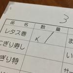 一平 - 一平(宮崎県宮崎市松山)伝票
