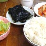 ママキムチ - ご飯とパンジャン