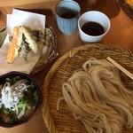 Kamakuramiyoshi - 天ざると釜揚げしらす丼のセット