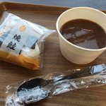 トラベラーズコーヒー - 料理写真:おにぎり&赤だし豚汁