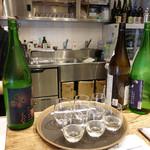 銀座酒蔵検校 - 日本酒飲み比べ800円