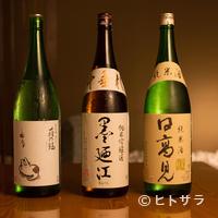 弘寿司 - 通も思わず唸る日本酒を少なからず用意する