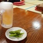 69881186 - ビール594円(枝豆付き)
