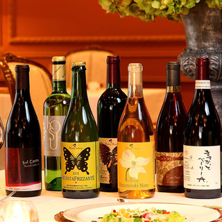サドヤのオリジナルワインや県産ワインなど約70種類のワイン♪