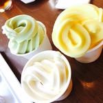 ジョージタウン - 2017/7/8 ディナーで利用。 ソフトクリームは、バニラ、メロン、パインの3種類。