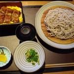 十割そば 素屋  - ◆私は「うな丼とそばのセット(1625円:内税)を。