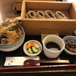 蕎膳 楽 - 【2017.6.26】天丼とおそばのお膳¥1000