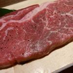 牛角 - 料理写真:「熟成上ロースステーキ」