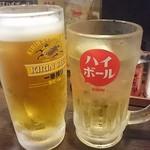 居酒や ぶあいそう - 生ビール&ハイボール