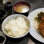 雄太 - 豚ヒレ肉2枚、鯵、白身魚