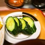 大富士 - ポークチャップ定食(お漬物)