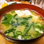 大富士 - ポークチャップ定食(味噌汁)