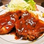 大富士 - 料理写真:ポークチャップ定食(ポークチャップ)
