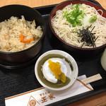 東京そば正家 - かやくご飯定食¥700