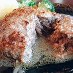 俺のステーキジョー - きった感じ…溢れ出る肉汁。