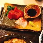 関西割烹 なごみ - お刺身 鯛、鮪赤身
