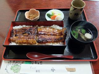 うなぎ 割烹 檜 - うな重特上(3,500円税抜き)