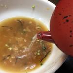 そば処 あんどう - 蕎麦湯