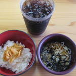 微笑みレストラン 大国亭 - ご飯セットとコーラ。