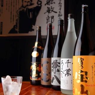 焼酎は7種日本酒20種をご用意