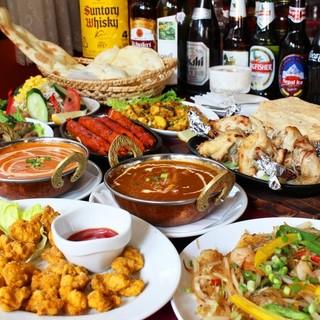 ランチ・ディナーお得な《本格インド・ネパール料理コース》
