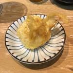 天ぷらとワイン 小島 - 半熟卵の天麩羅